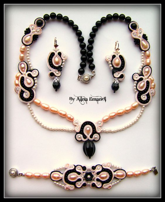 Fairy drops soutache jewelry: