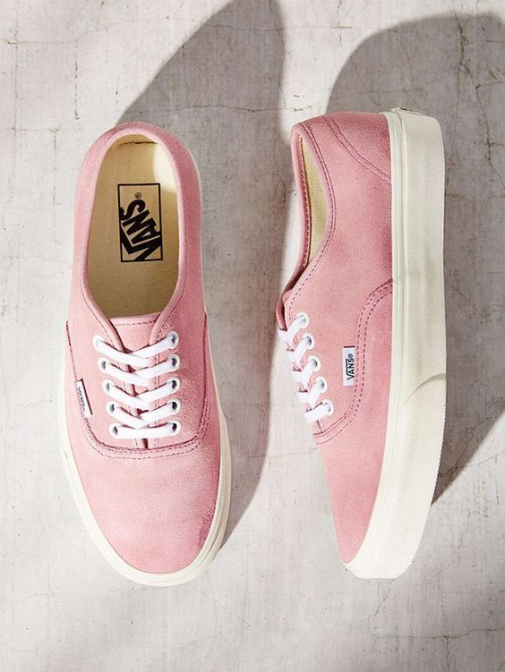 Vans sells a pair of pink suede sneakers for those who are not a big fan of heels. - See more at: http://www.quinceanera.com/look-your-best/suede-trend-this-is-how-you-wear-it/?utm_source=pinterest&utm_medium=social&utm_campaign=article-030716-look-your-best-suede-trend-this-is-how-you-wear-it#sthash.Y6zfYuIj.dpuf