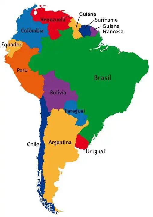 Pin By Santo Segundo Romero Coronel On Países Da América Do Sul América Do Sul History Of Earth América Latina