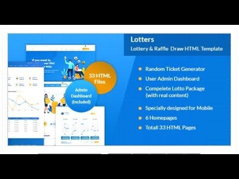Lotters Online Lotto Lottery Html Template Themeforest Templates Lotto Lottery Lottery Lotto