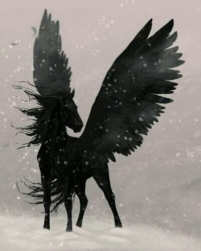 Tristan's winged stallion, Vollapax - unfailingly loyal to his master: