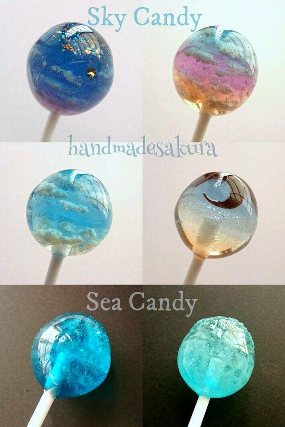 """트위터의 SAKURA@Candyは食べられません 님: """"Sky Candy & Sea Candy 空や海をそのまま切り取りキャンディにしてみました🍭 半球や球体で作る方が多いかなーと思い、自分の作品のソーダキャンディと合わせて空と海のキャンディを製作してみました✨ #海色空色水色レジン https://t.co/8Q8q4cI1bx"""""""