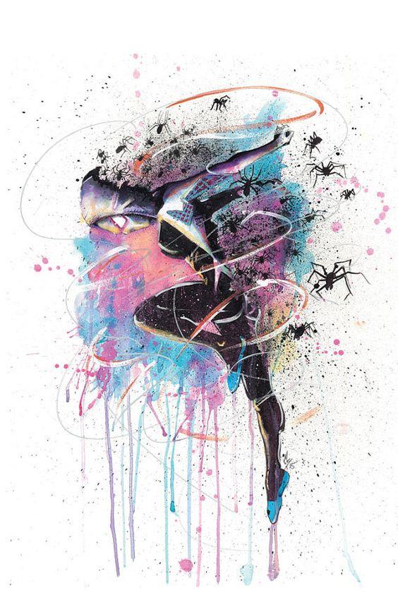 Spider-Gwen Art Print poster by SplatterGeek on Etsy