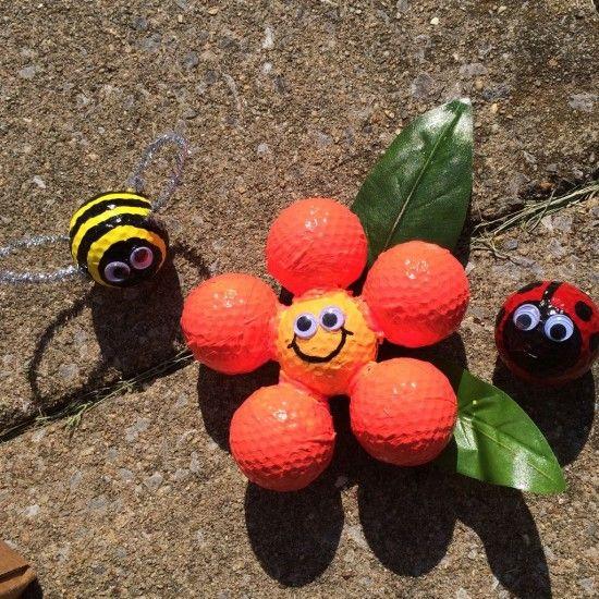 Golf Ball Garden Decorations 3