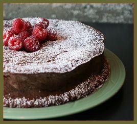 flourless bittersweet chocolate gateau, Macrina Bakery