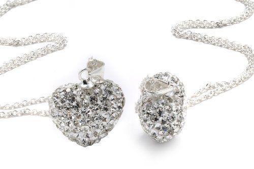 Diamond Heart Shaped Crystal Pendant $0.01 (Reg. $ 130) What?!?!?!