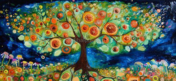 Trees Artworks And Orange Trees On Pinterest