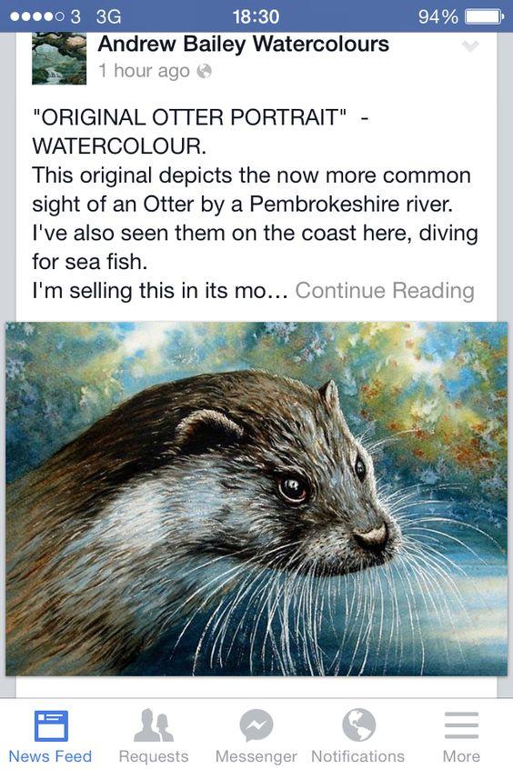 Otter watercolour