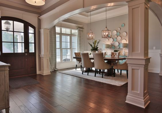 House of turquoise, Columns and Colors on Pinterest