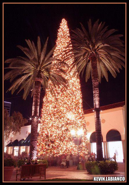 The Christmas Tree at Fashion Island, in Newport Beach, CA via