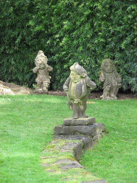 Garden folly at Lotusland in Montecito, CA