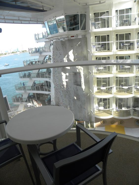 Royal caribbean oasis of the seas cruise ship cabins the for Cruise ship balcony view