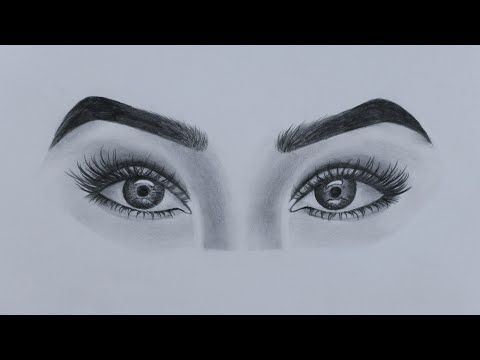 How To Draw Beautiful Eyes For Beginners Step By Step Youtube