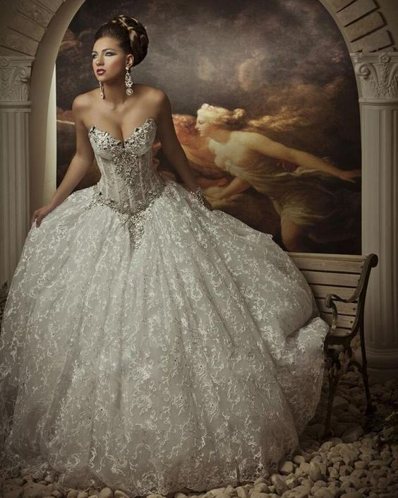 Panina wedding dresses royals and new wedding dresses on for Silver ball gown wedding dresses