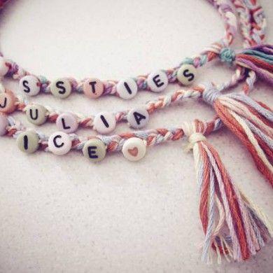 alphabet beads friendship bracelet