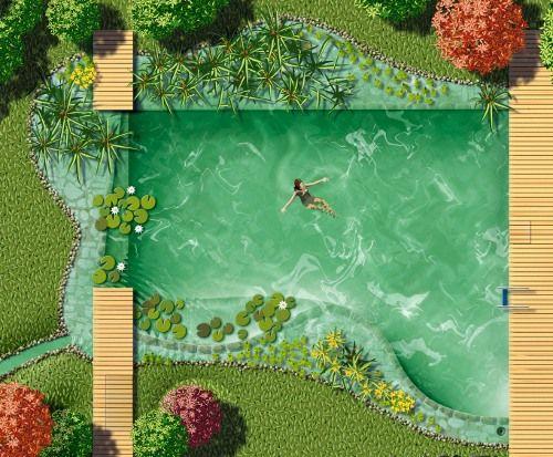 Selbstbau vom Schwimmteich naturpool darstellung