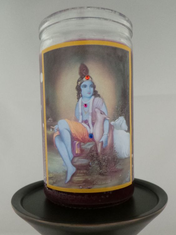Intention Candle - Lord Krishna
