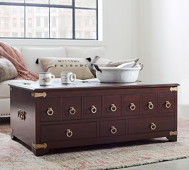 Friends Apothecary Coffee Table Hudson Mahogany Furniture