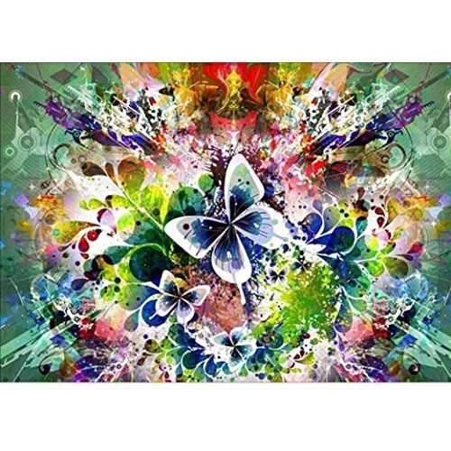 5D DIY Diamond Painting Butterfly Embroidery Cross Craft Stitch Home Decor Art