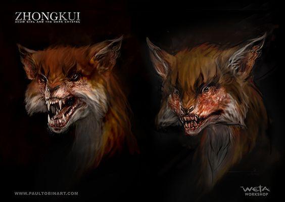 Fox Demon, Paul Tobin on ArtStation at https://www.artstation.com/artwork/NKnJb