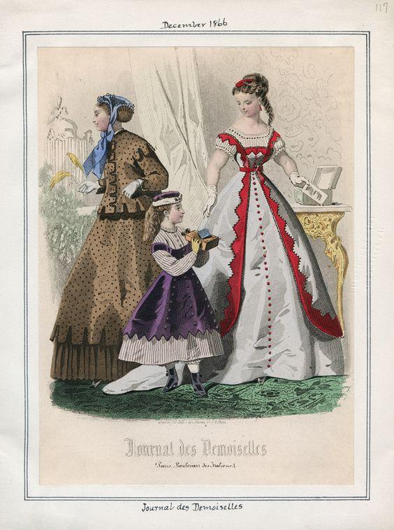 Journal des Demoiselles December 1866 Casey Fashion Plates Detail | Los Angeles Public Library
