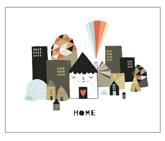 happy home print