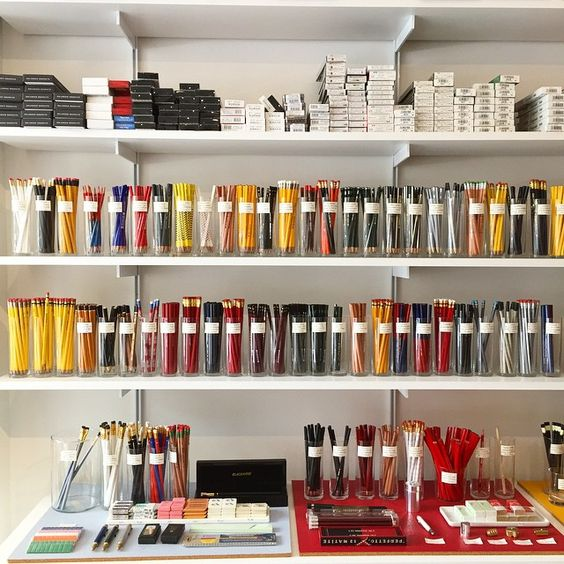 CW Paper Enterprise via Iron Curtain Press // drawing supply organization inspiration