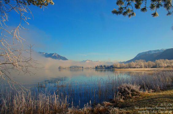 Der Morgenreif am Wolfgangsee im Dezember bei herrlichem Sonnenschein!