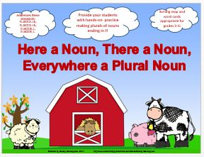 Provide your students with hands-on practice making plurals of nouns ending in f! Great for centers or independent practice! Sorting map and word cards appropriate for grades 2-5! Addresses these standards: ELACC2L1b, ELACC3L1b, ELACC4L1, ELACC5L1. An answer key is provided for reference. A black-and-white version is also included for your convenience. $