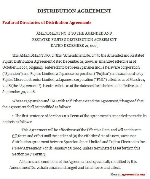 Free Wholesale Contract Template Best Of Distribution Agreement