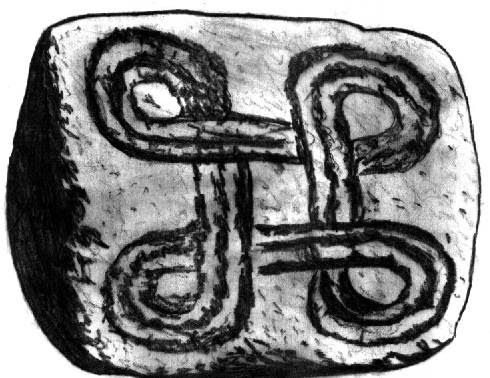 Interesting motif from a BMAC seal which can be followed through the centuries is the endless knot (Knot of Eternity) ... (2500- 1500 BC)