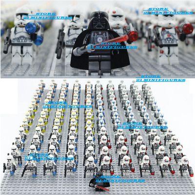 Star War Clone Army Lego MOC New 21 Pcs Minifigues Storm Trooper Clone Trooper