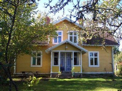 yellow scandinavian house