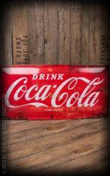 Plåtskylt 25 x 50cm Coca-Cola