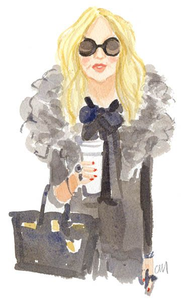 Here is an illustration of Rachel Zoe from one of my favorite illustrators Caitlin Mcgauley.