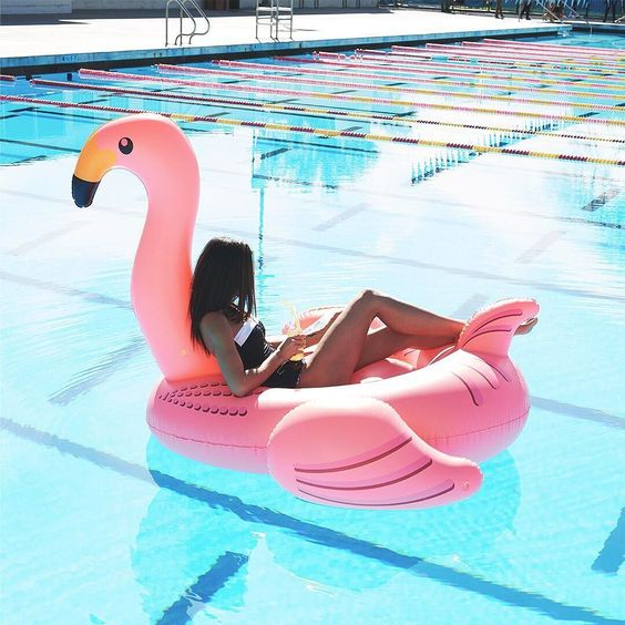 In case you needed an excuse to skip out of work early and hit the pool, it's #flamingoday!
