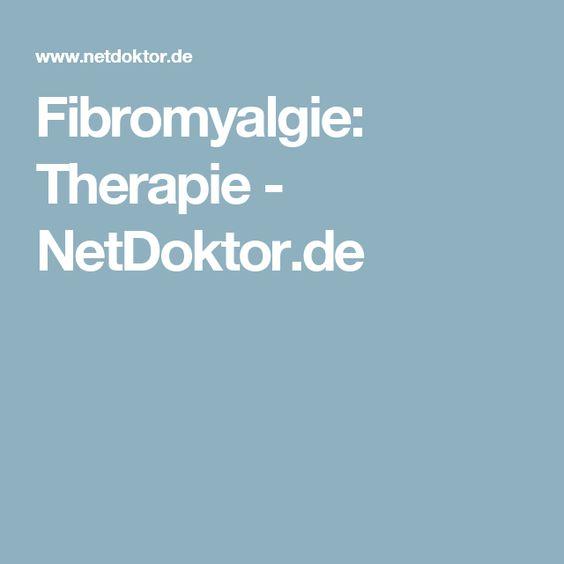 Fibromyalgie: Therapie - NetDoktor.de
