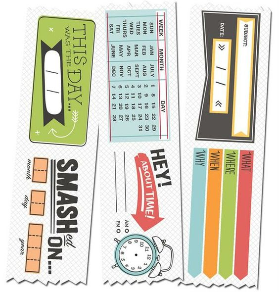SMASH calendar tape... must have for Project Life!