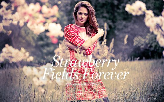 visual optimism; fashion editorials, shows, campaigns & more!: strawberry fields forever: justyna stolarczyk by danny miller for shop ethica september 2014