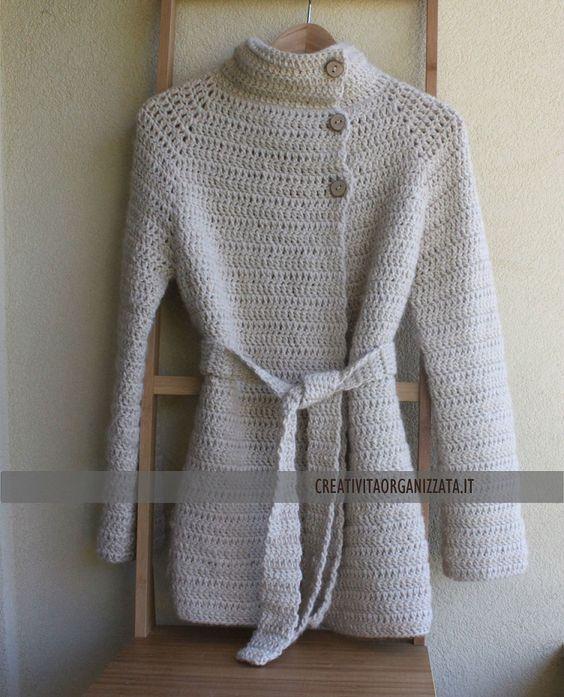 Come fare cappottino a uncinetto senza cuciture. #tutorial #handmade #crochet