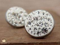 Kristall - Ohrstecker in Kristallklar und Weiß