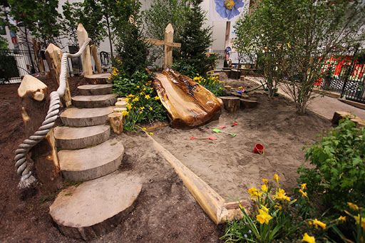 Simple Playground Landscaping   http://backyard-designs-ideas.blogspot.com/2014/02/childrens-playground-ideas-in-backyard.html