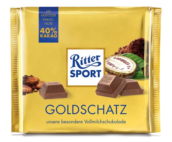 RITTER SPORT Goldschatz 250g Schokolade