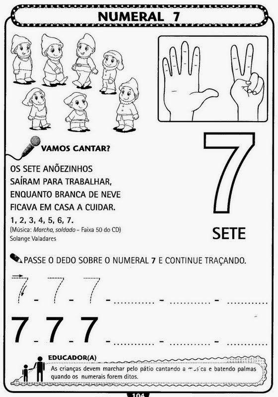Educando Com Amor 2013 Atividades De Matematica Com Numerais Para