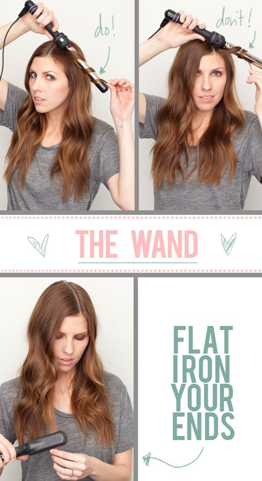 loose waves using a curling wand. Deff doing this