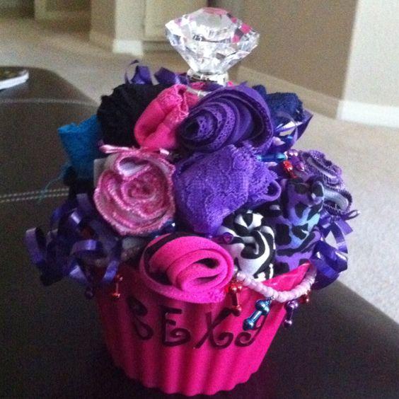 Panty-Cake for a Bachelorette gift! Kinda like a diaper cake for a baby shower :)