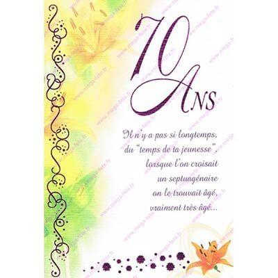 carte anniversaire 70 ans femme exemple carte anniversaire gratuite 70 ans a imprimer (avec images