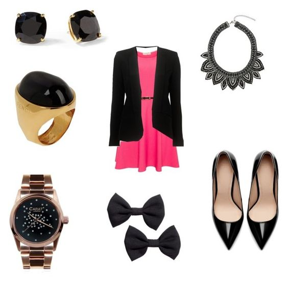 work by tayler-sheppherd on Polyvore featuring polyvore fashion style A|Wear Parker Zara CARAT* Fendi Topshop H&M Kate Spade clothing