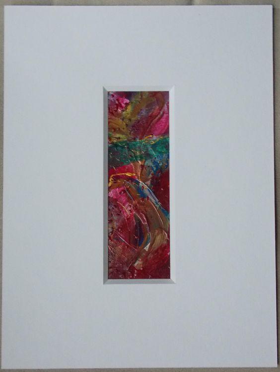Acryl auf Papier, Passepartout 15x20cm