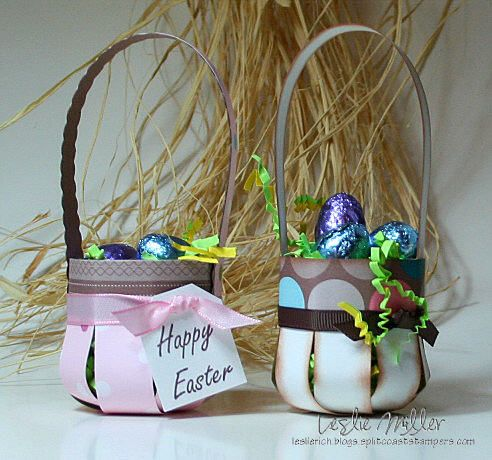 Paper Slatted Easter Basket:
